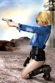 Petite blonde armed with Magnum pistol - Image 8
